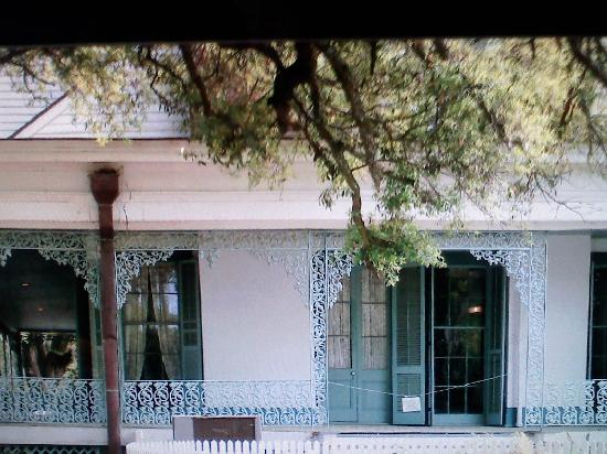 Saint Francisville, LA: During the daytime I caught this pic of a soldier looking out of the Green Room window!!!