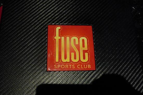 Fuse Sports Bar: Cover of Menu