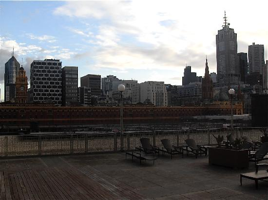 The Langham, Melbourne: view near the pool area!
