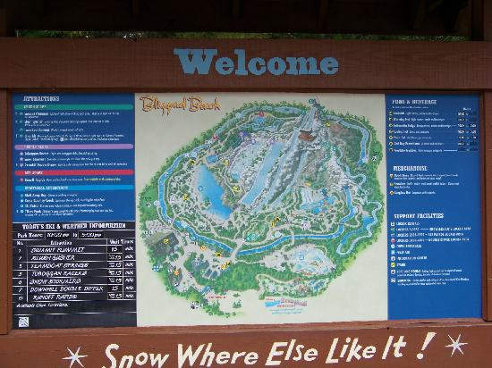 Map Picture Of Disney S Blizzard Beach Water Park Orlando