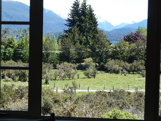 Blue Thistle Cottages: view from window