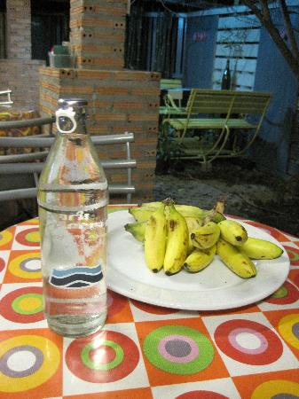 Baan JaJa: two bottles of water and some fruit for free everyday