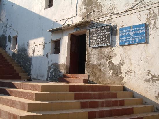 Diu Fort : Diu jail inside fort