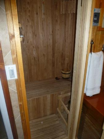 Charming Luxury Lodge & Private Spa: SAUNA DENTRO DE LA HABITACION