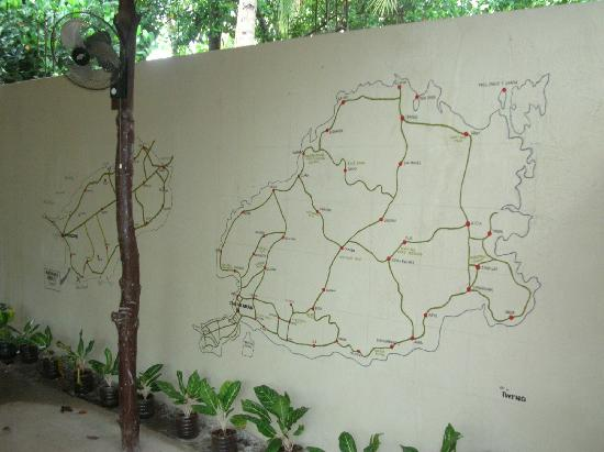 Mabuhuay Breeze Resort: map on the wall