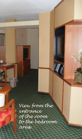 Fairfield Inn & Suites Mount Vernon Rend Lake: showing the layout of the room from the entrance