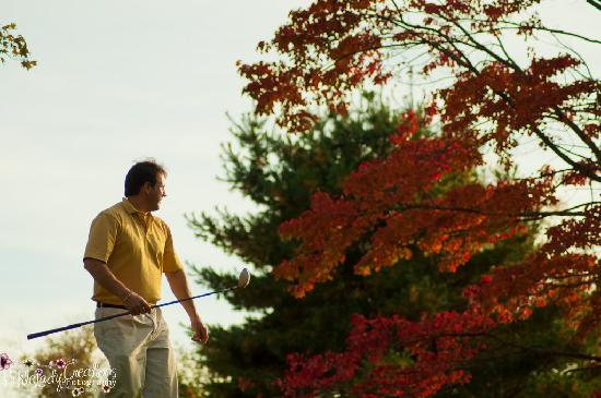 North Conway Country Club: Foliage in the background