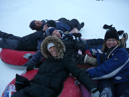 River Valley Winter Tube Slide : the gang tubing