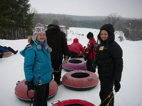 River Valley Winter Tube Slide : the kids tubing