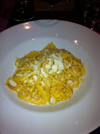 Trattoria da Santoni: spaghetti alla carbonara(divini)