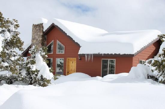 Stone Canyon Inn : cottage in winter