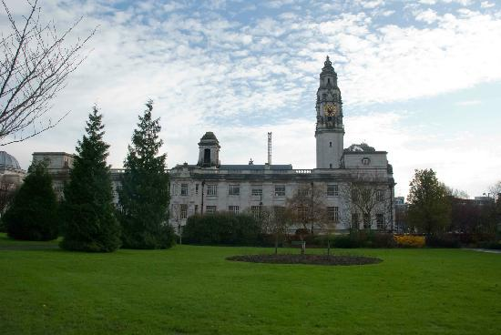 Cathays Park: The back of the Cardiff Town Hall