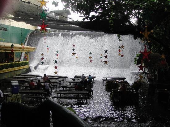 Eating Area By Waterfalls Picture Of Villa Escudero