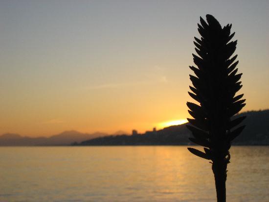 Hotel Villa Nina: coucher de soleil