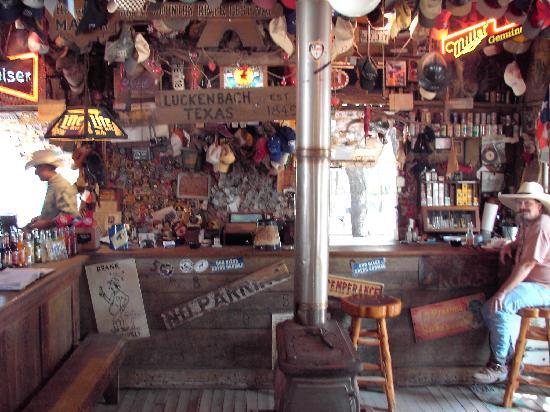 Backroom Luckenbach saloon