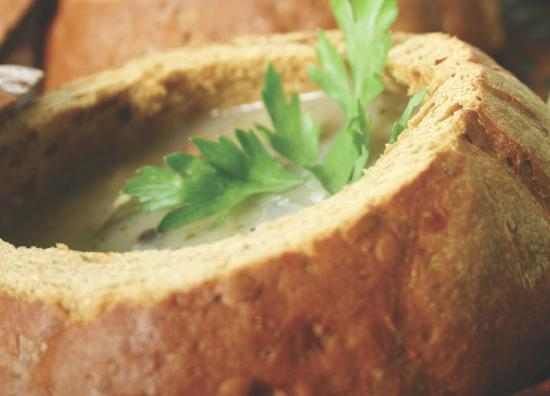 Pastries of Denmark: Homemade soup in a bread bowl