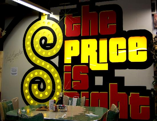 Lava Rock Grille: The real Price is Right Studio sign autographed by Bob Barker