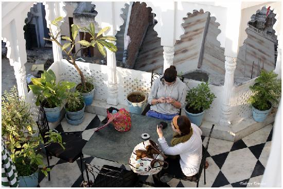 Hotel Minerwa: Terrasse du restaurant