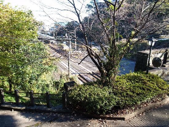 Kuil Tanna: 神社から丹那トンネル入口を見下ろす