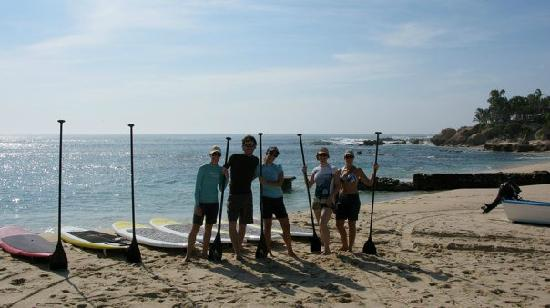 Paddling with friends and SUP Mexico at Palmilla Beach