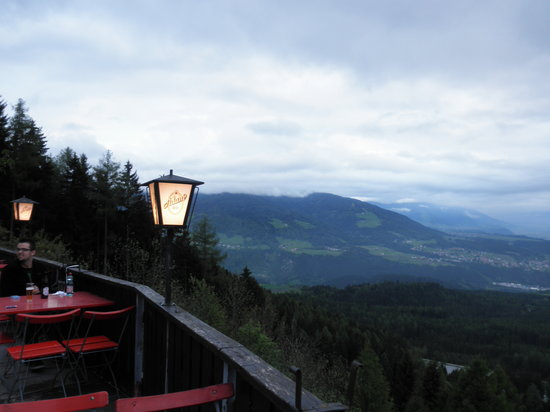 Laternenwandern: View from top of guest house