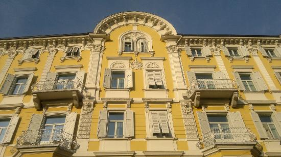 Scala Stiegl Hotel: la facciata storica