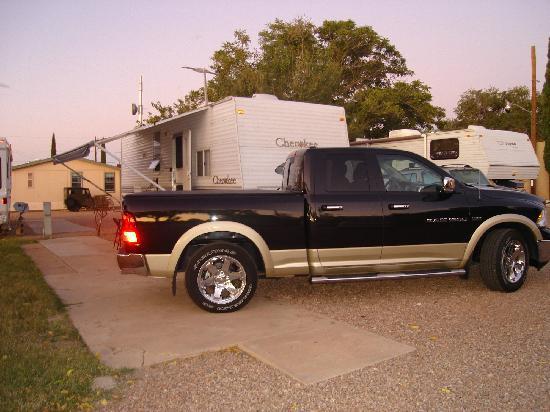 Wells Fargo RV Park: My trailer set up in the park.