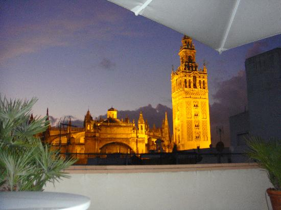 Hotel Casa 1800 Sevilla: view from terrace