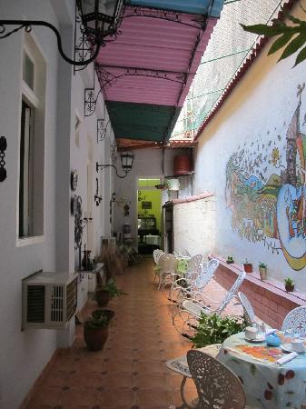 Casa Ricci: Patio intérieur sur lequel donnent les chambres