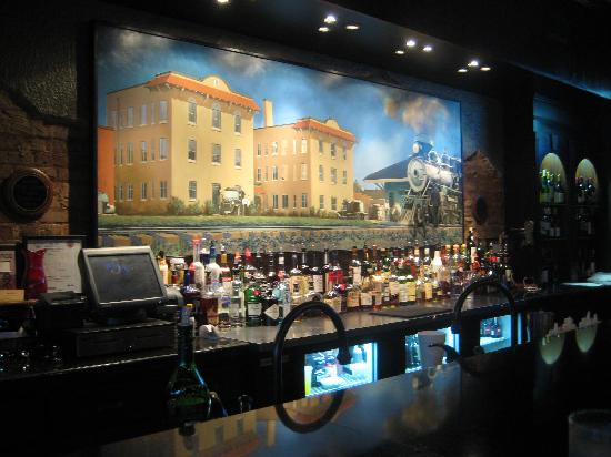 Rawls: The Bar area -- Painting of the old train Station
