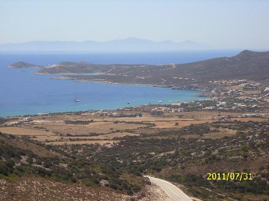 Hotel Aegeon Paros : Vista de Antiparos