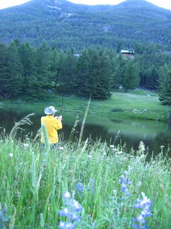 Hawley Mountain Guest Ranch: Flyfishing at the pond
