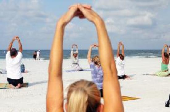 Tropical Beach Resorts : Complimentary Beach Yoga every Saturday