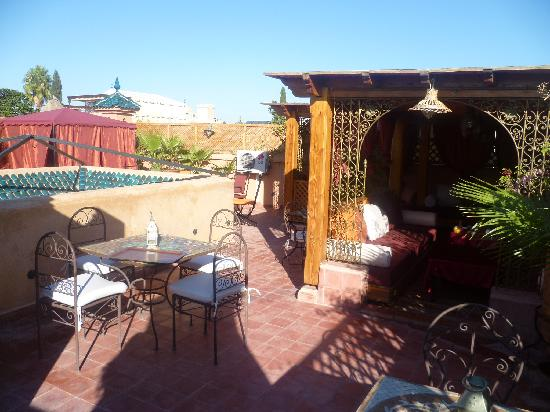 Riad Reves D'orient: terrace of the Riad