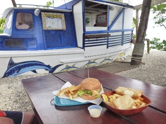 Flying Boat Fish & Chips: and good chips too.