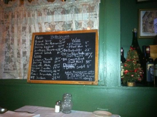 Bella Verona: the specials board