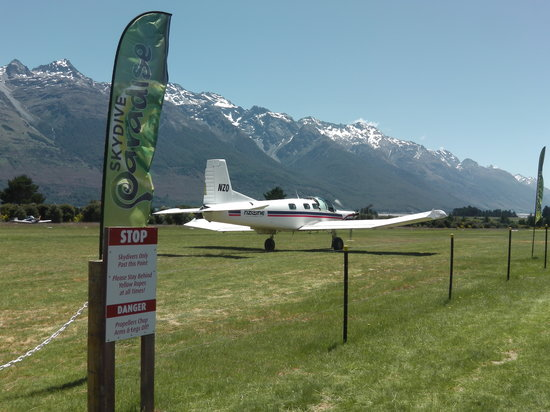 Skydive Paradise: The plane waiting to take off