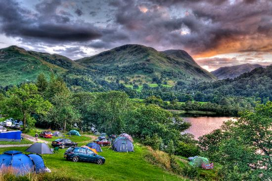 Patterdale, UK: View from campsite