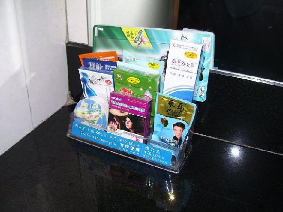 Diaobingshan, China: Toiletries for sale