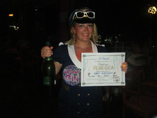 Alua Hawaii Ibiza: My certificate from the hotel
