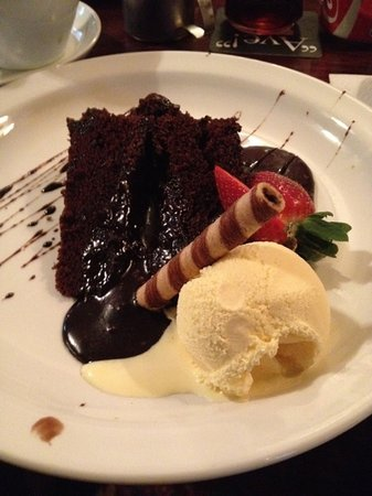Ayrshire & Galloway Hotel: chocolate fudge cake served at the hotel