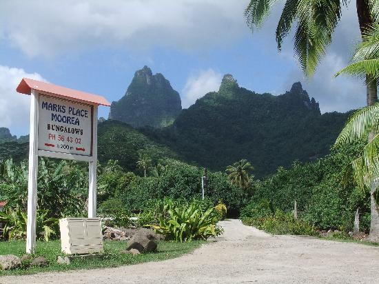 Marks Place Moorea : view from the street surrounding Moorea