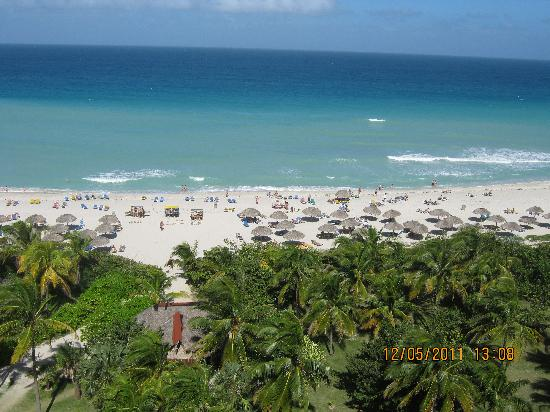 Varadero Beach: view of beach from our roomin Playa Caleta