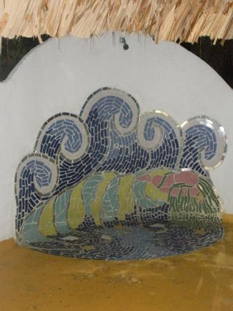 Playa Koralia: ducha