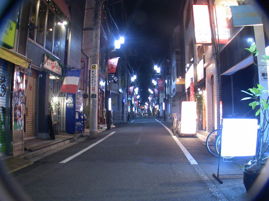 Shimokitazawa: Quiet side streets, late on a Sunday night