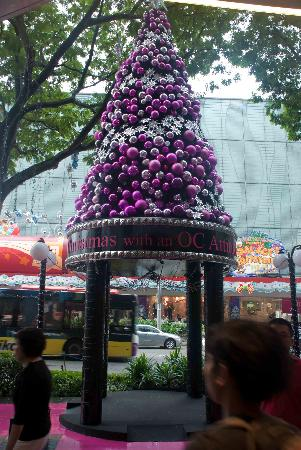 Orchard Central: Little Christmas Tree outside OC