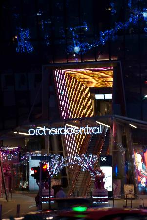 Orchard Central: The colourful entrance