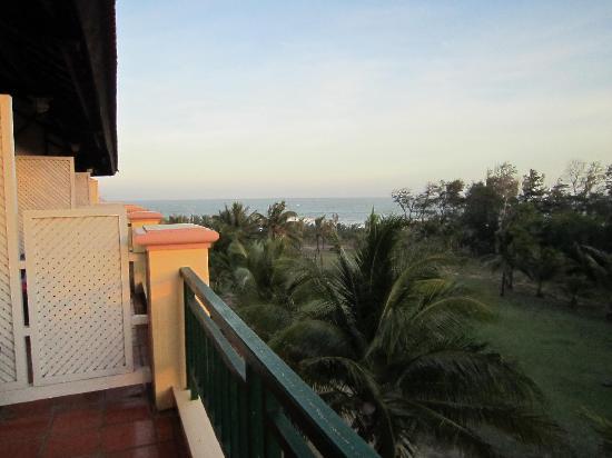 Pandanus Resort: view from room, beaches not so nice in Dec