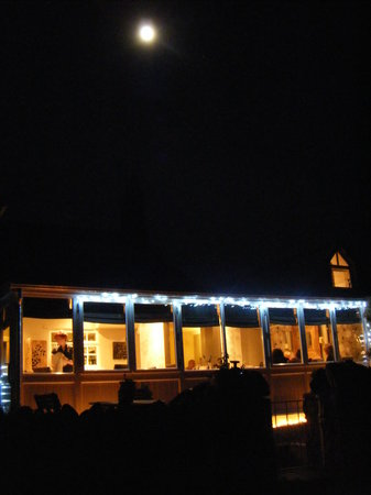 Rhiwafallen Restaurant with Rooms: A tranquil moon over a confused restaurant