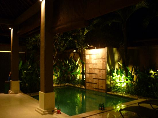Private Pool Viewed From Living Area At Night Picture Of Ahimsa